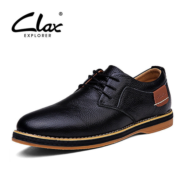 Clax Mens Oxfords Shoes Spring Autumn Man Casual Leather Shoe Classic British Style Elegant Shoes Male Designer Brand Retro Shoe - The Big Boy Store