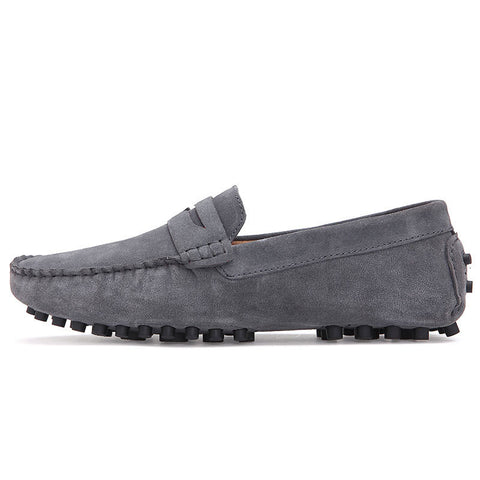 Clax Mens Moccasins Breathable Designer Flat Suede Leather Shoe Male Casual Loafer Slip On Driving Shoes Fashion Classic - The Big Boy Store