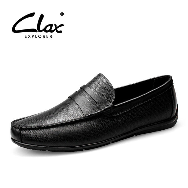 Clax Men Shoes Luxury Brand Loafers Genuine Leather Male Driving Shoes Slip On Black Dress Shoe Moccasin Designer Classical - The Big Boy Store