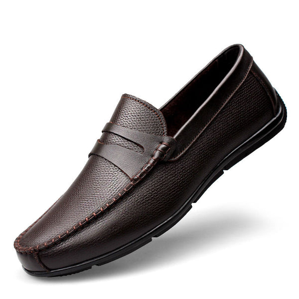 Clax Men Shoes Luxury Brand Loafers Genuine Leather Male Driving Shoes Slip On
