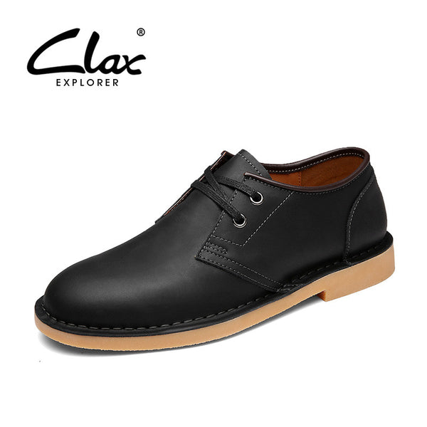 Clax Men Oxford Black Brown Spring Autumn Men's Leather Shoe Dress Shoe For Male Fashion British Style Luxury Brand - The Big Boy Store