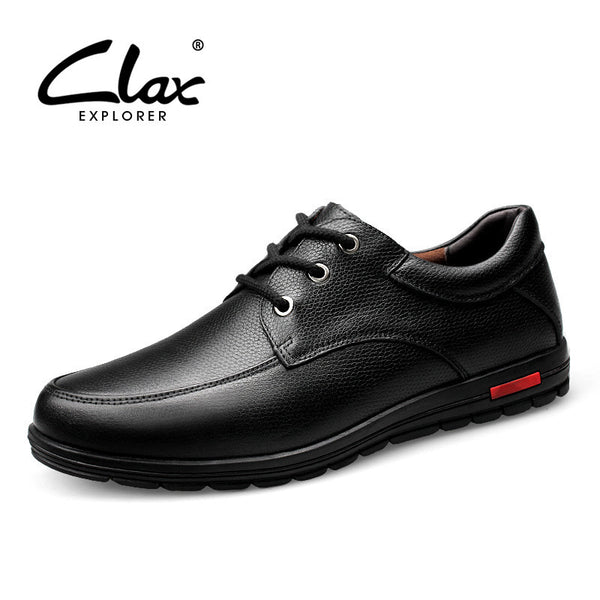 Clax Men Business Formal Shoe Genuine Leather Black Dress Shoes Male Wedding Footwear Classical Vintage Retro Shoes Brand - The Big Boy Store