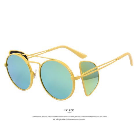 MERRY'S Unique Style Design Round Steampunk Sun Glasses Men Metal Frame Women Sunglasses Retro Glasses - The Big Boy Store