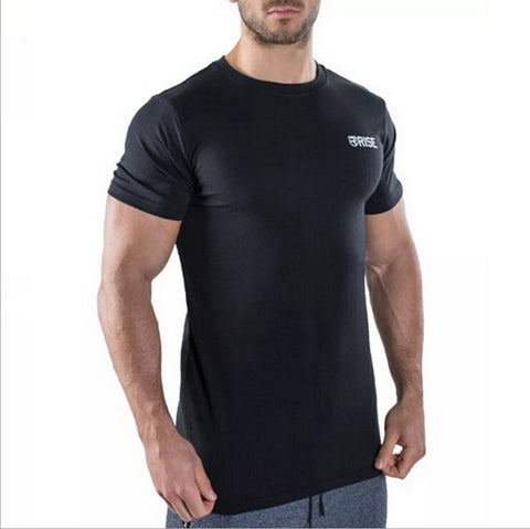 RISE Brand men's clothing Fashion Fitness t Shirt Crossfit Bodybuilding Muscle - The Big Boy Store