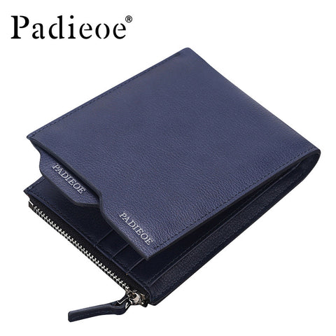 High quality leather men's short wallet