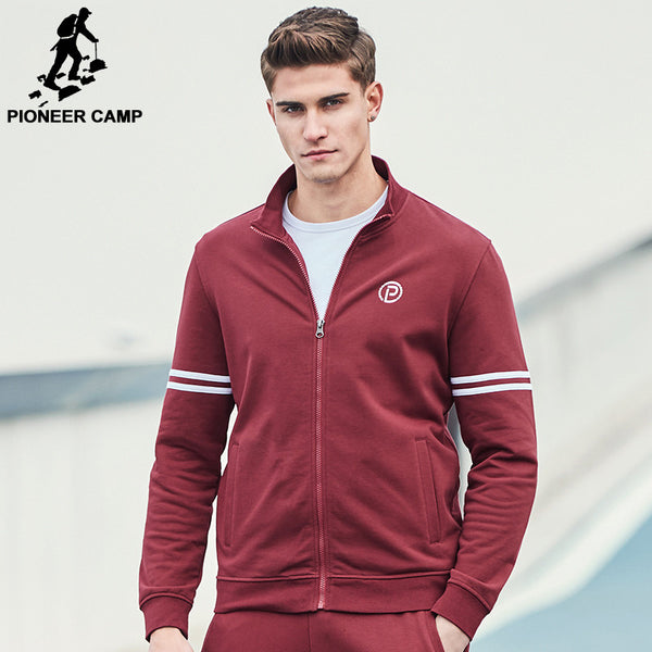 Pioneer Camp new Spring jacket men fashion brand clothing wine red zipper coat men top quality casual male outerwear AJK702045 - The Big Boy Store