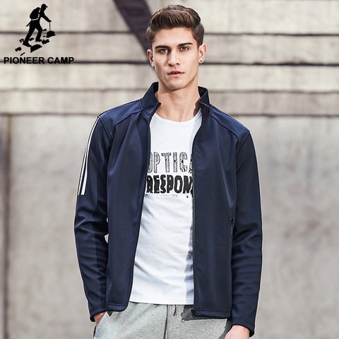 Pioneer Camp New arrival Spring jacket coat men brand clothing casual male jacket top quality zipper outerwear coat 677185 - The Big Boy Store