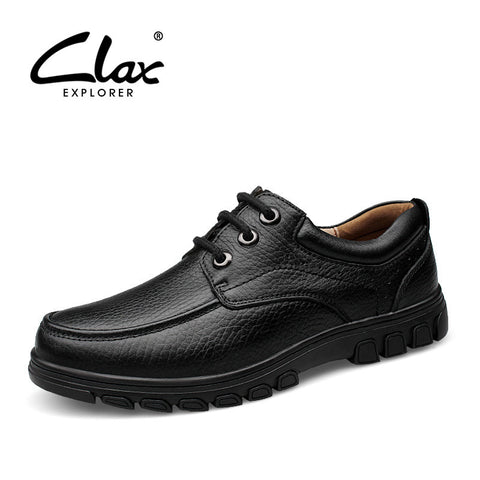 Clax Men Dress Shoes Luxury Brand 2017 Spring Autumn Men's Leather Shoe Genuine Leather Formal Shoe OfficeFootwear Classic