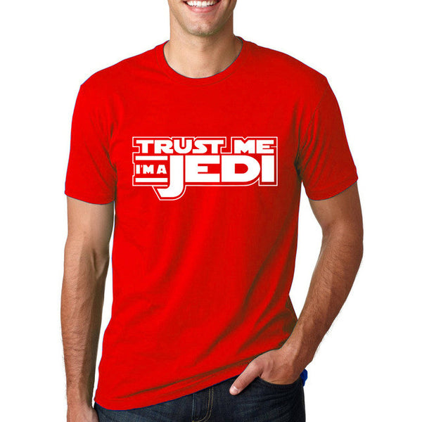 Men's Summer Short Sleeve T-Shirt Trust Me I'm a JEDI Printed Top