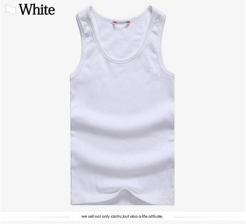 E-BAIHUI Brand mens t shirts Summer Cotton Slim Fit Men Tank Tops Clothing Bodybuilding