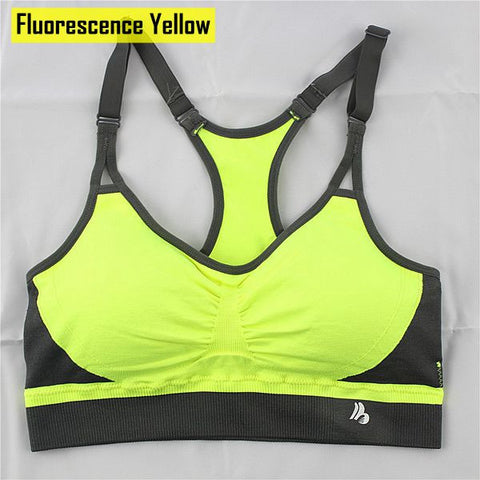 Women Seamless Bra Push Up Compression Top Adjusted-Straps High Elastic Soft Breathable Full Cup