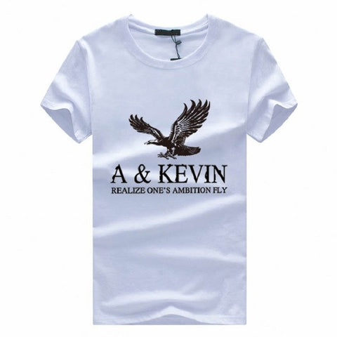 2017 Men's Short-Sleeved Casual Solid Color Print Pattern T-shirt