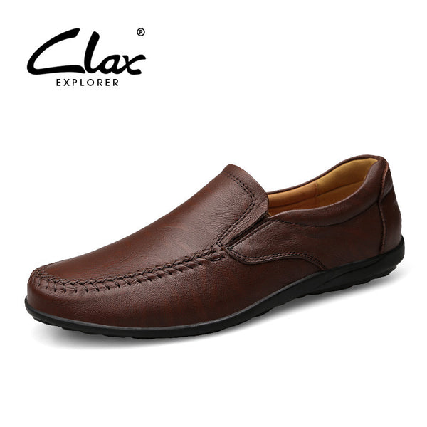 Clax Men Soft Leather Loafers 2017 Spring Summer Male Casual Shoes Genuine Leather Moccasin