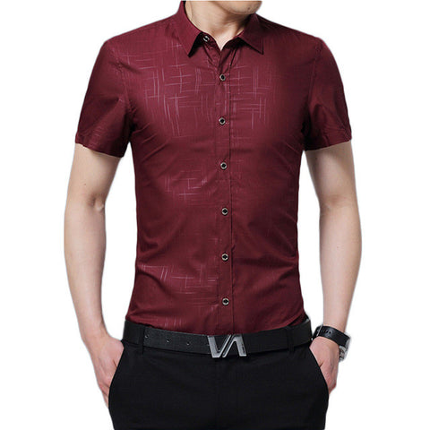 Men's Casual Shirt Summer Slim Thin