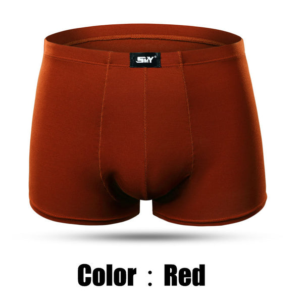 Sexy Men Boxer Soft Breathable Underwear Male Comfortable Solid Underpants Cueca Boxers - The Big Boy Store