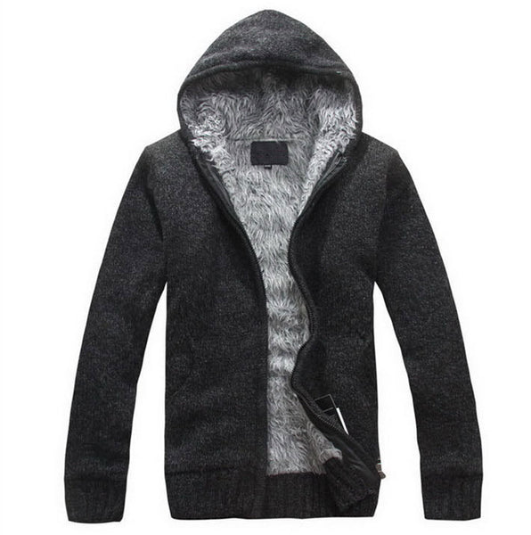 TANGNEST Men's Winter Sweater 2016 New Fashion Spring Autumn Thick Hooded Sweaters Cardigan Clothing Blusas Masculinas MZM179 - The Big Boy Store