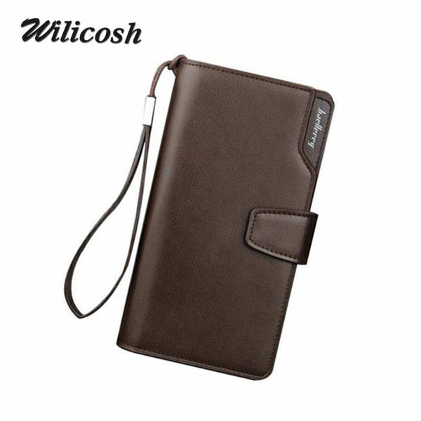 Men's Wallets Casual Wallet Men Purse Clutch Bag Brand Leather Long Wallet Design - The Big Boy Store