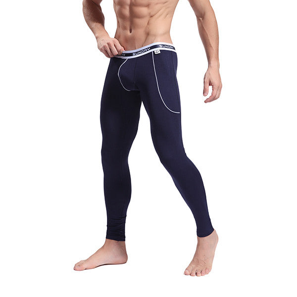 Men's Softed Long Johns Thermal Pants Solid Color Underwear S M L
