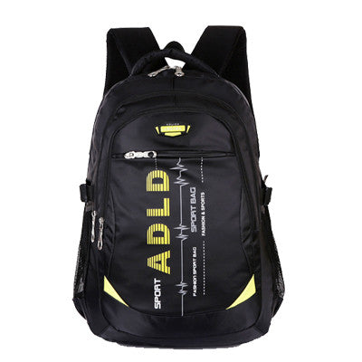 AOU Fashion Casual Nylon Backpack Men Travel Double-shoulder