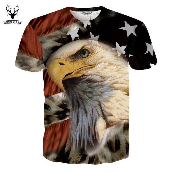 New Brand Fashion Design 3D Print t shirt Men O-neck Casual Cotton Short Sleeve - The Big Boy Store