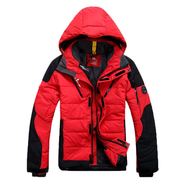 Men's winter down jacket casual warm jacket men white duck down men solid men's winter coat Size S-XL 6 colors - The Big Boy Store