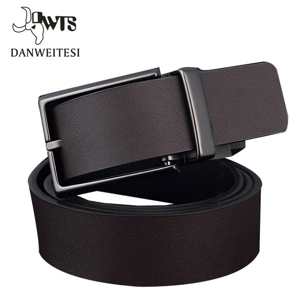 [DWTS] 2016 Brand Designer Belts Men High Quality Two sided use Cowhide Fashion Leather Buckle