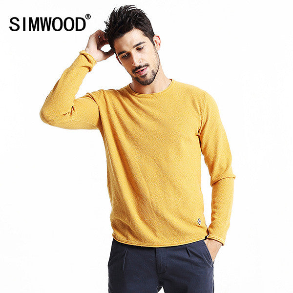 SIMWOOD  Brand 2016 New Autumn Winter Casual Sweater Men Fashion long Sleeve pullovers MY2015 - The Big Boy Store