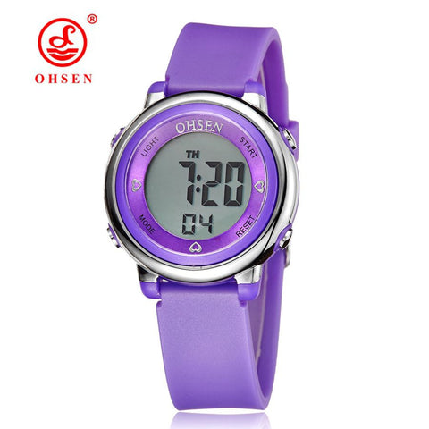 OHSEN 2016 Solar Digital Men Watches 5ATM Waterproof Quartz Power LED Sports
