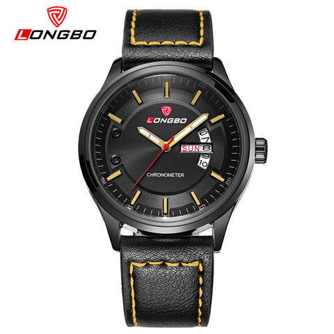 LONGBO simple style men watches Sports Quartz Watch Men Luxury Brand leather strap army Military wrist watches costly watch - The Big Boy Store