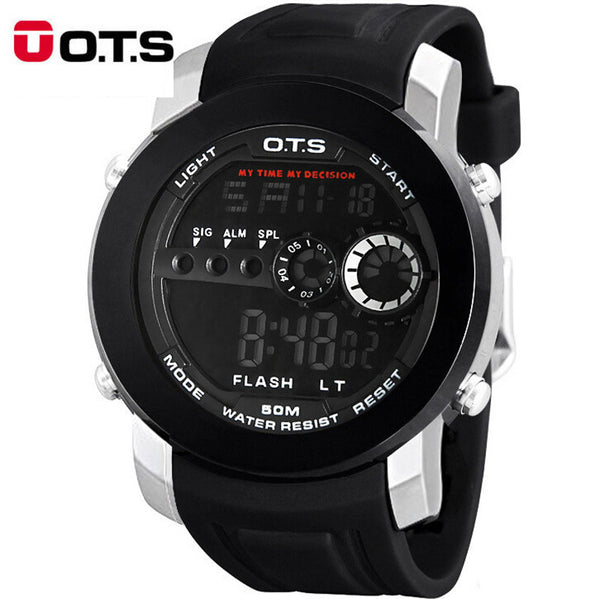 Top sport men watch brand OTS 10M Professional Waterproof Luminous LED Military Watches