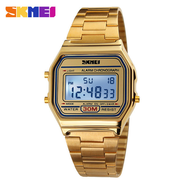 2016 New Men Sport Watch For Men Women Brand Electronic Led Digital Watch Fashion gold silver Couple Watches Relogio Masculino - The Big Boy Store