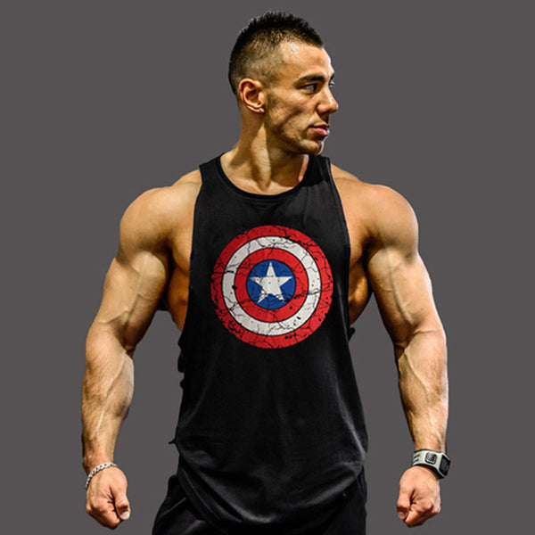 Bodybuilding clothing and fitness men undershirt  tank tops tops golds men undershirt