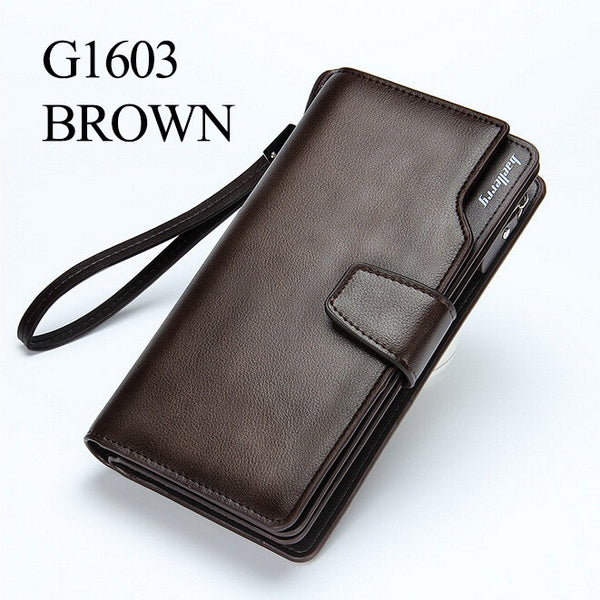 Men's wallets Casual purse Clutch bag Brand leather wallet long design - The Big Boy Store