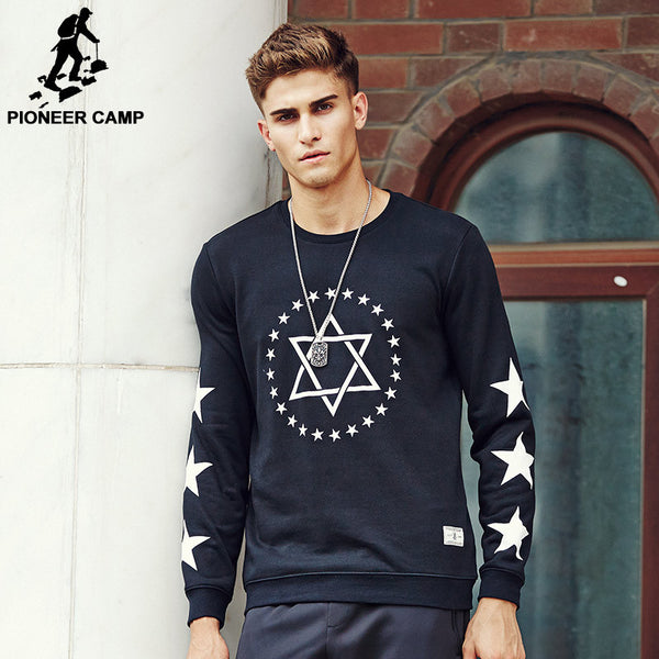 Brand clothing Men Hoodies Fashion male hoodie Black sweatshirt