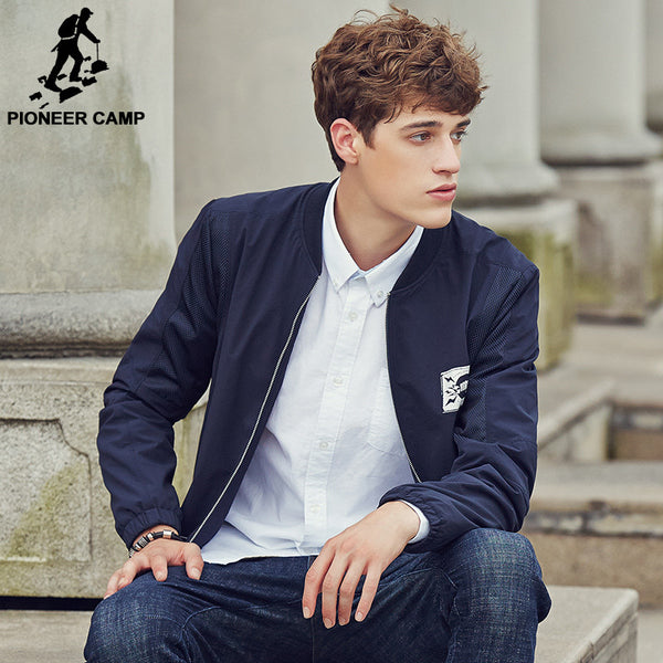 Pioneer Camp Brand clothing Top quality Autumn spring  Bomber Jacket Men     blue male jacket 677114 - The Big Boy Store