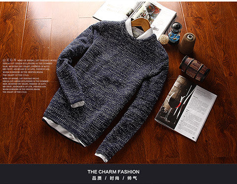 Casual Men Sweater male Brands Sweater Winter Men's O-Neck Cotton Sweater