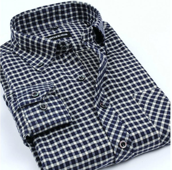 Flannel Men Plaid Shirts 2016 New Autumn - The Big Boy Store