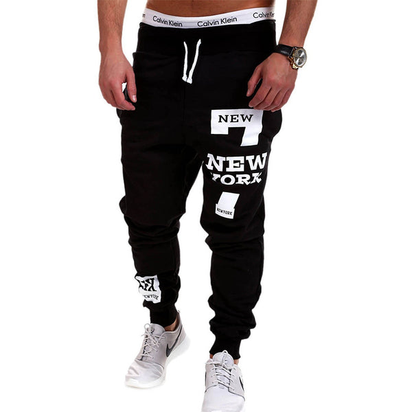 Mens Joggers 2016 Brand Male Trousers Men Pants Casual  Pants Sweatpants Jogger Black XXXL KDBB - The Big Boy Store