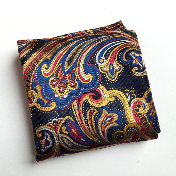 Vintage Men's Paisley Handkerchief Floral Printed Pocket Square