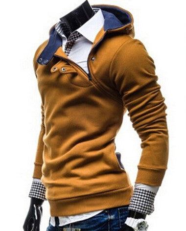 2016 Hot new fashion men Slim casual men's sweater Sweater jacket winter coat sweater 4 colors - The Big Boy Store