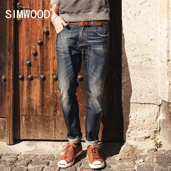 SIMWOOD Brand 2016 New autumn winter  fashion jeans men causal denim - The Big Boy Store