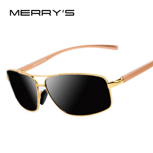 2016 New Men Luxury Polarized Sunglasses Aluminum Alloy Classic  Brand Men Sunglasses Gold Frame High quality Original Package - The Big Boy Store