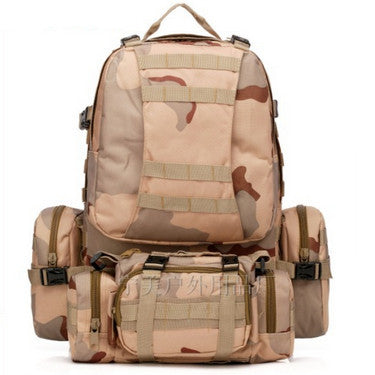 Waterproof 3D Army Fans Rucksack Bag Multi Style Multifunction High Capacity three sand digital color