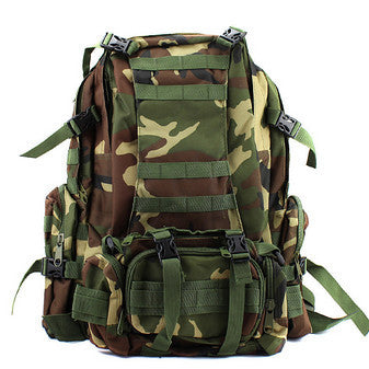 Waterproof 3D Army Fans Rucksack Bag Multi Style Multifunction High Capacity Woodland Camouflage color
