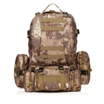 Waterproof 3D Army Fans Rucksack Bag Multi Style Multifunction High Capacity Digital Camouflage Color