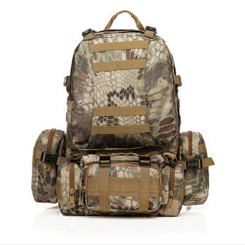 Waterproof 3D Army Fans Rucksack Bag Multifunction High Capacity Camouflage