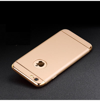 Luxury Gold Hard Case For iphone 7 6 6S 5 5S SE Back Cover Coverage Removable 3 in 1 Fundas Case For iphone 6 6s Plus 7 Plus Bag - The Big Boy Store