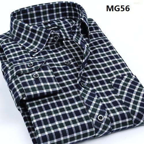 Fall Winter 2016 New Mens Casual Plaid Shirts Long Sleeve Slim Fit Comfort Soft Flannel Cotton Shirt Leisure Styles Man Clothes - The Big Boy Store