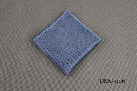 Classic Polka Dots Stripe Handkerchief Wedding Polyester Printed Hanky Men's Fashion Business Suits Pocket Square Towel 23*23CM - The Big Boy Store