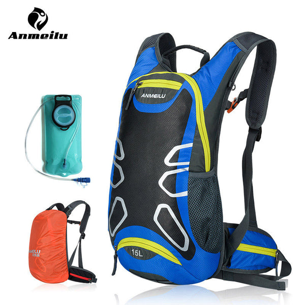 ANMEILU 15L Hydration Backpack + 2L Water Bag Outdoor Sports Hiking Climbing Camping Cycling Camelback Water Bladder Mochila - The Big Boy Store